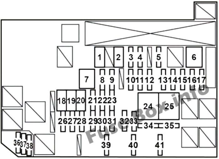 Fuse Box Diagram Lexus HS250h (2010-2013)
