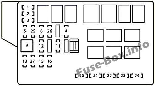 Fuse Box Diagram > Lexus IS200d / IS220d / IS250d 2010-2013