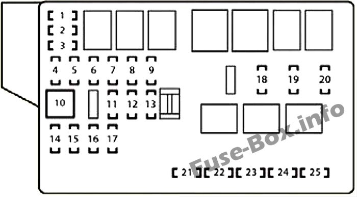 Fuse Box Diagram Lexus IS250 / IS350 (XE20; 2006-2013)