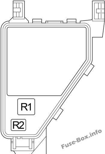 Fuse Box Diagram Lexus LS430 (XF30; 2000-2006)