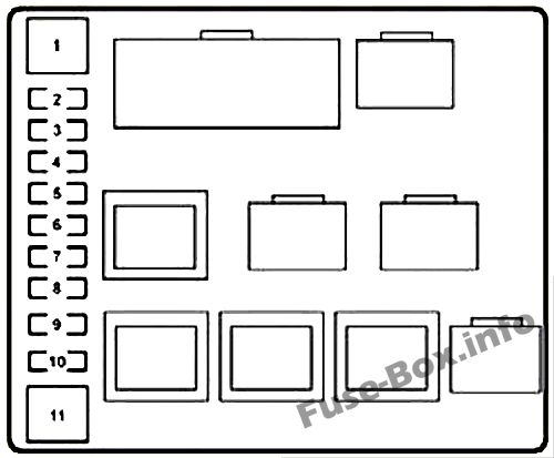 Fuse Box Diagram Lexus LX570 (J200; 2008-2015)