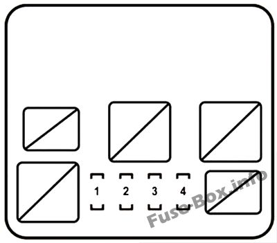Fuse Box Diagram Lexus RX450h (AL10; 2010-2015)
