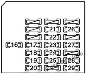Fuse Box Diagram Lexus SC430 (Z40; 2001-2010)