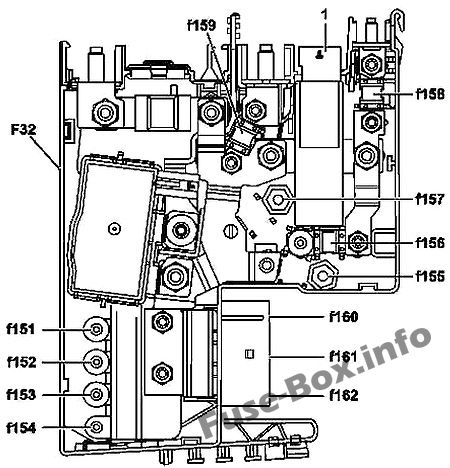 Fuse Box Diagram Mercedes-Benz CLS-Class (W218; 2011-2018)