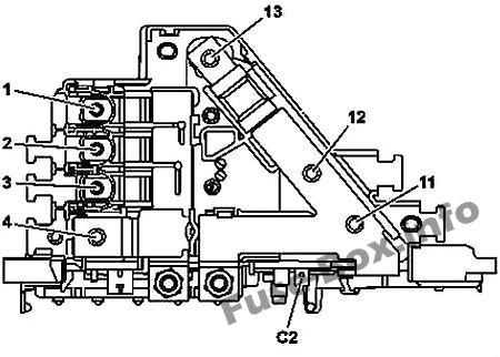 Fuse Box Diagram Mercedes-Benz GLC-Class (X253; 2015-2019)