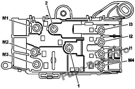 Fuse Box Diagram Mercedes-Benz S-Class (W222; 2014-2019-)