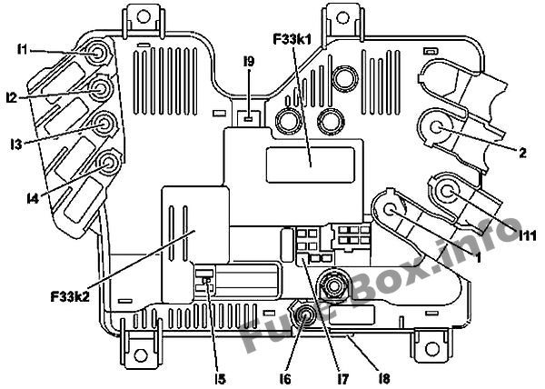 Fuse Box Diagram Mercedes-Benz S-Class (W222; 2014-2019-)