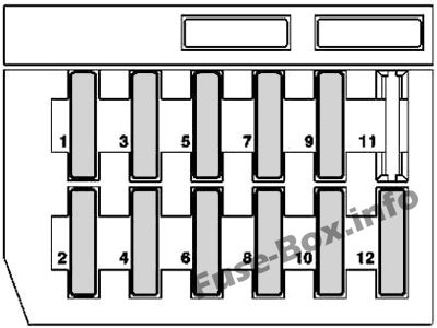 Fuse Box Diagram Mercedes-Benz SLK-Class (R170; 1996-2004)