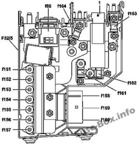 Fuse Box Diagram Mercedes-Benz SLK-Class (R172; 2012-2018)