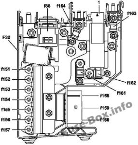 Fuse Box Diagram Mercedes-Benz SLS (C197/R197; 2011-2015)