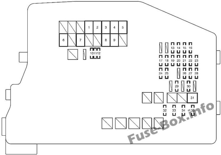 Fuse Box Diagram Scion tC (AGT20; 2011-2016)