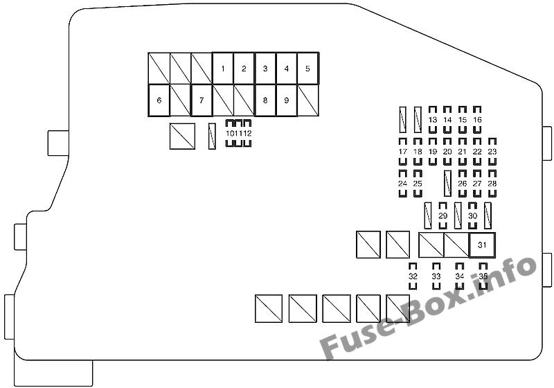 Fuse Box Diagram Scion tC (AGT20; 2011-2016)