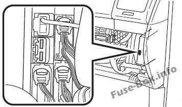 Fuse Box Diagram Toyota Sienna (XL20; 2004-2010)