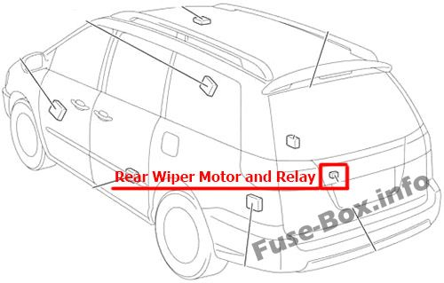 Fuse Box Diagram > Toyota Sienna (XL20; 2004-2010)
