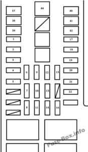Fuse Box Diagram Toyota Tundra (2000-2006)