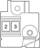 Fuse Box Diagram Toyota Yaris/Echo/Vitz (XP130; 2011-2018)