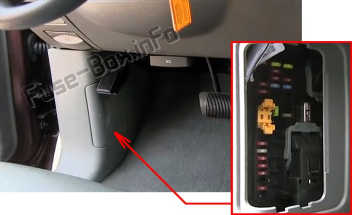 2005 dodge durango fuse box diagram craftsman lt2000 solenoid wiring 2004 2009 the location of fuses in passenger compartment