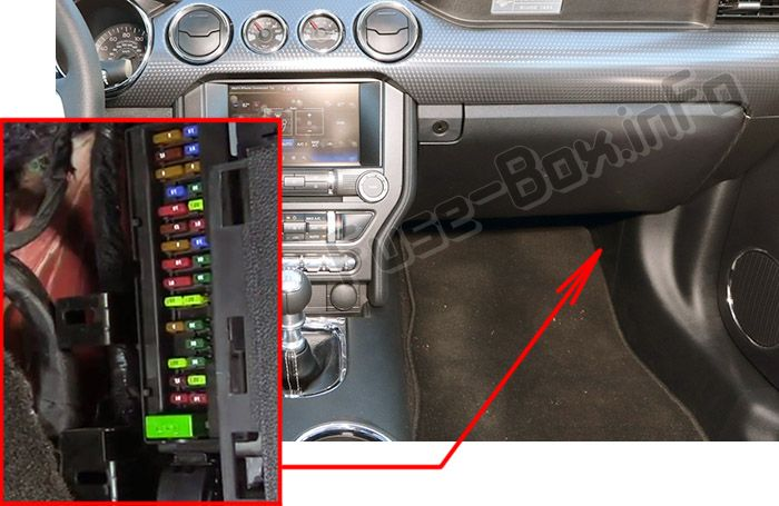 1995 Ford Mustang Engine Compartment Fuse Box Diagram