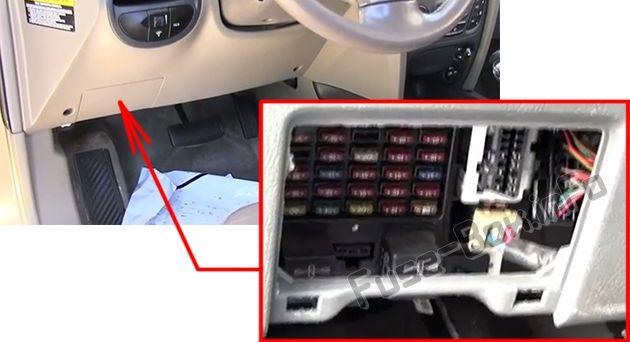 2005 Hyundai Tucson Inside Fuse Box Diagram