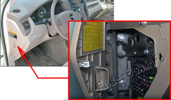 2009 Kia Rondo Engine Compartment Fuse Box Diagram