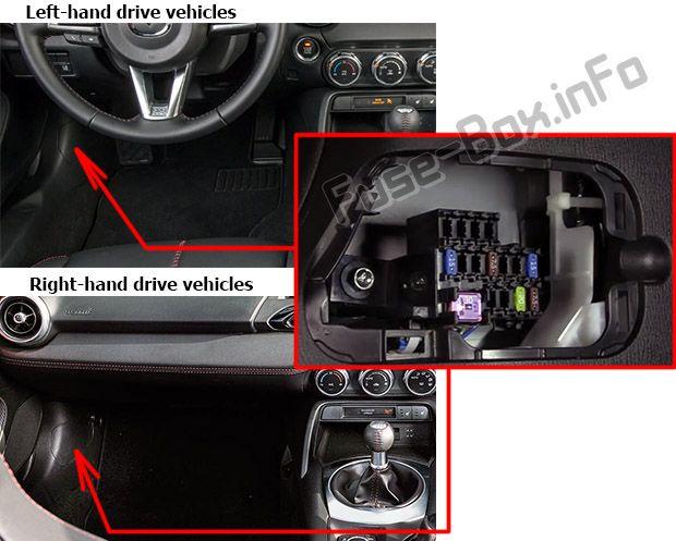 1994 Mazda Mx5 Miata Interior Fuse Box Diagram