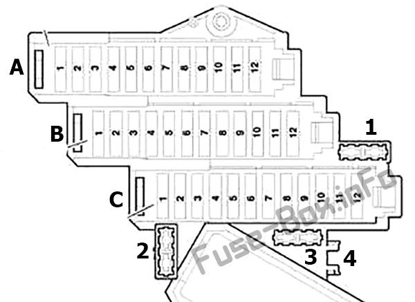 Fuse Box Diagram Audi Q7 (4L; 2007-2015)