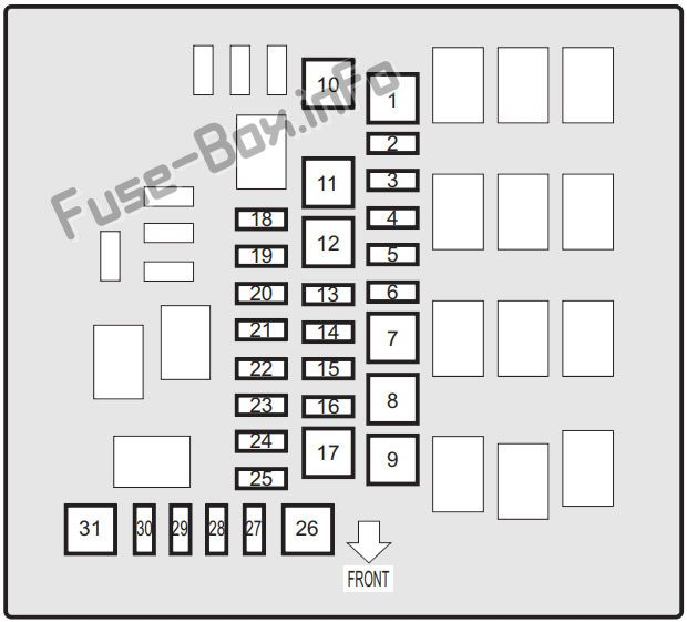 Fuse Box Diagram Suzuki Ignis (2016-2019-..)