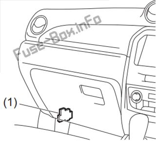 Fuse Box Diagram Suzuki Escudo (LY; 2016-2019-..)