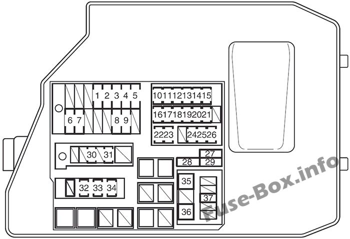 Fuse Box Diagram Pontiac Vibe (2009-2010)