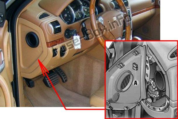 2004 Porsche Cayenne Instrument Panel Fuse Box Diagram