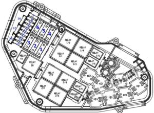 Fuse Box Diagram Porsche Cayenne (92A/E2; 2011-2017)