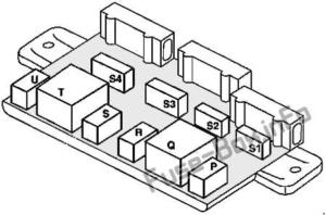 Fuse Box Diagram Smart Fortwo (W450; 1998-2002)