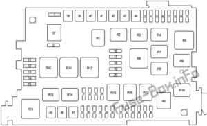 Fuse Box Diagram Toyota 4Runner (N210; 2003-2009)