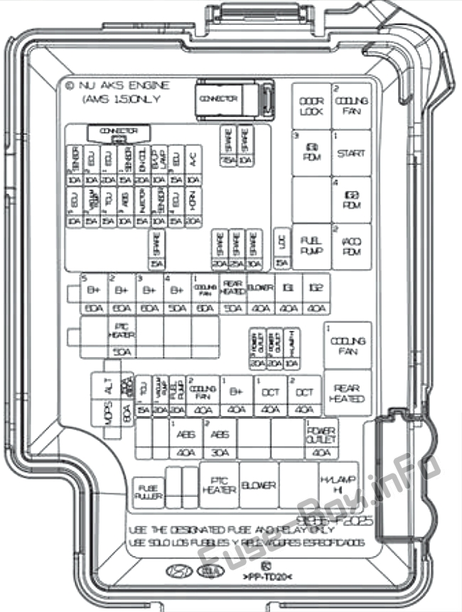 Fuse Box Diagram > Hyundai Elantra (AD; 2017-2020..)
