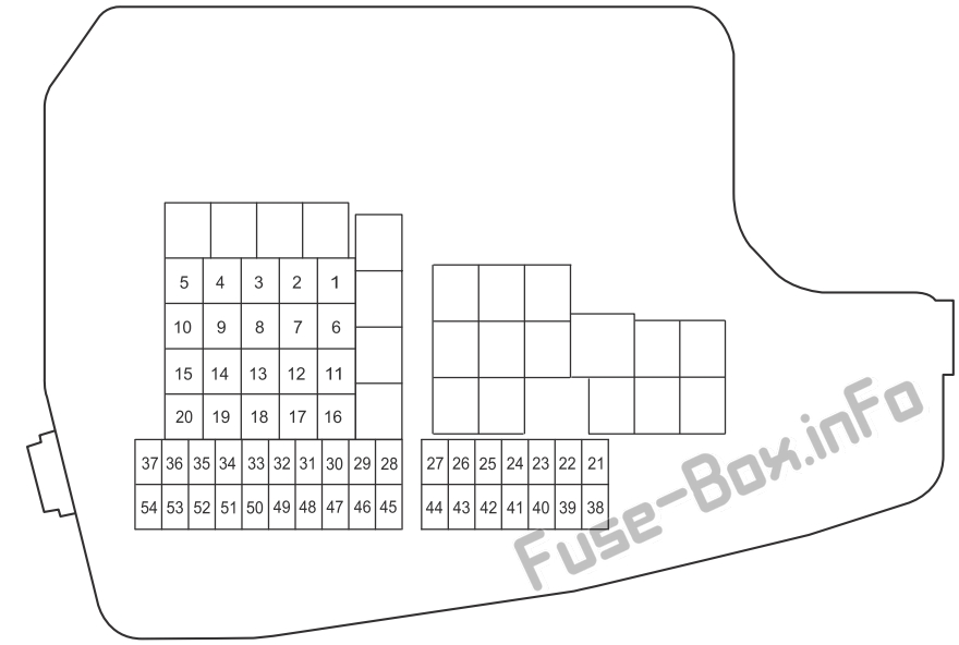 Fuse Box Diagram Mazda 6 (GJ1/GL; 2013-2020)