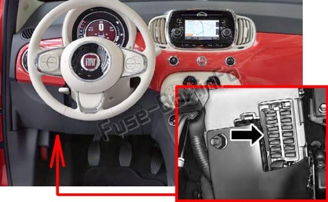 Fiat 500 Interior Fuse Box Fiat 500 Fuse Box Diagram Fiat 500 Fuse Box