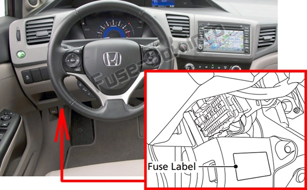Diagram Besides 2001 Honda Civic Fuse Box Diagram On 2001 Honda