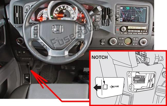 Fuse Box Diagram 2007 Honda Pilot Primary Under Hood Fuse Box Diagram