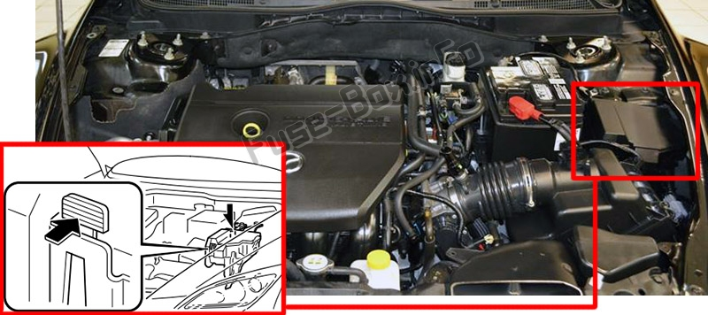 2008 Mazda 3 Passenger Side Fuse Box Diagram