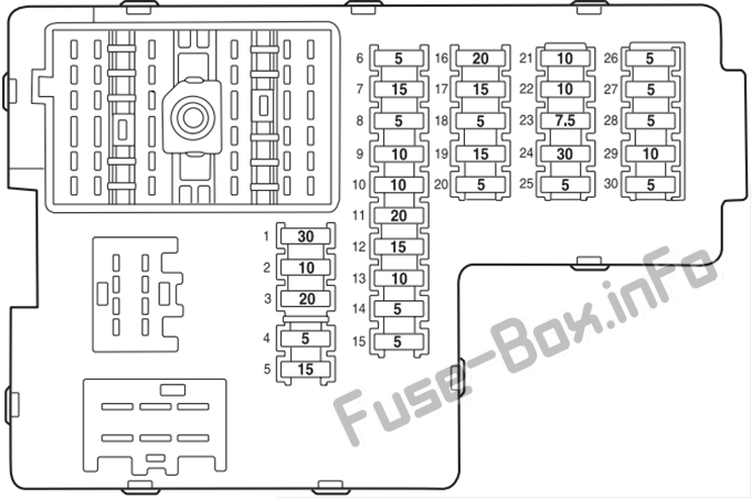 2003 lincoln aviator fuse box diagram