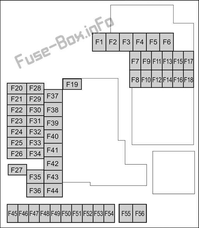 Fuse Box Diagram Mazda 3 (BP; 2019, 2020-..)