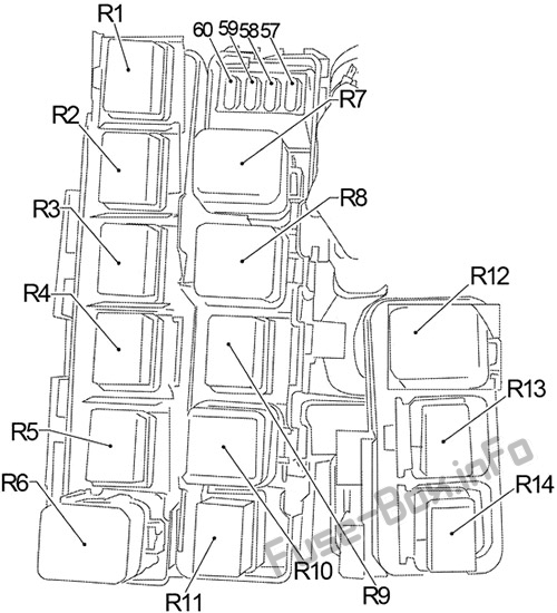 Fuse Box Diagram > Nissan Frontier (D40; 2005-2014)