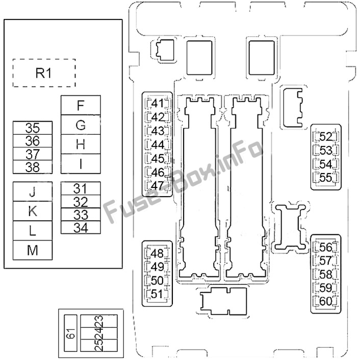 Fuse Box Diagram Nissan Murano (Z51; 2009-2014)