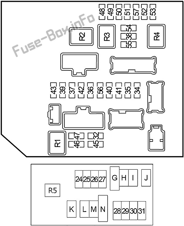 Fuse Box Diagram Nissan Xterra (N50; 2005-2015)