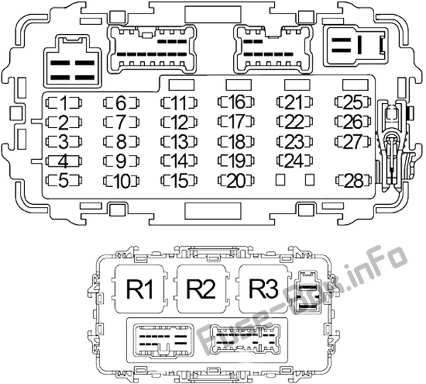 Fuse Box Diagram > Nissan Xterra (WD22; 1999-2004)
