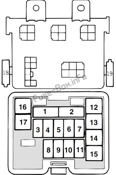 Fuse Box Diagram Mitsubishi L200 (2002-2004)