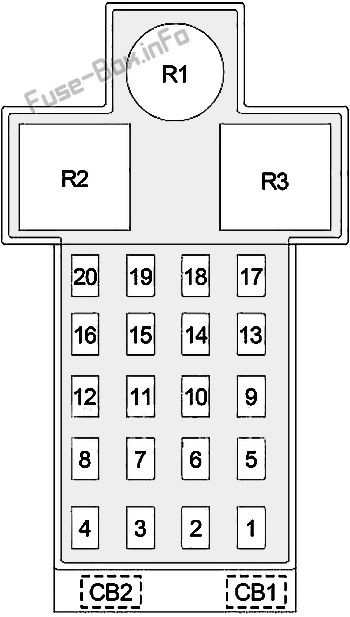 Fuse Box Diagram Dodge / Chrysler Neon (1994-1999)