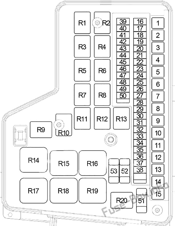 Fuse Box Diagram Dodge Ram 1500/2500 (2002-2009)