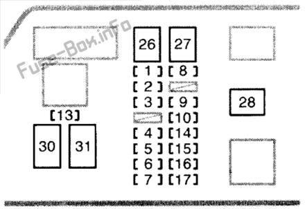 Fuse Box Diagram Toyota 4Runner (N180; 1995-2002)