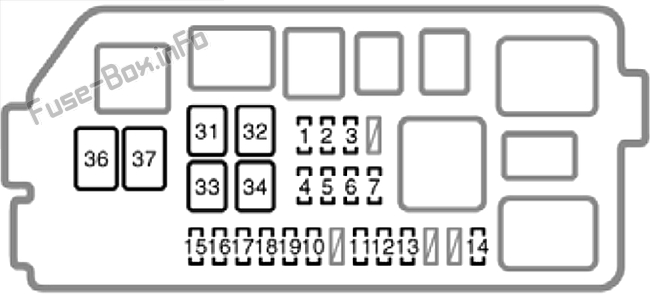 Fuse Box Diagram Toyota 4Runner (N180; 1995-2002)